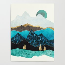 Teal Afternoon Poster