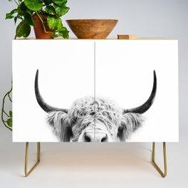Peeking Cow BW Credenza