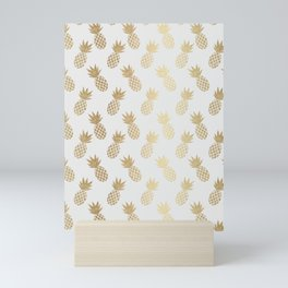 Gold Pineapple Pattern Mini Art Print