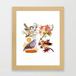 Seasonal Birds Framed Art Print