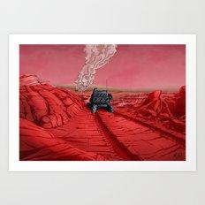 Green Mars Art Print