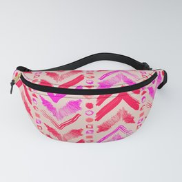Tribal Scribble Kilim in Neon Coral + Neutral Fanny Pack