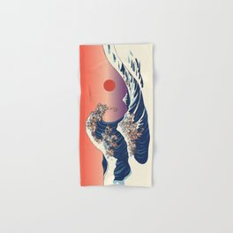 The Great Wave of Dachshunds Hand & Bath Towel