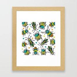 Funky Bugs Framed Art Print
