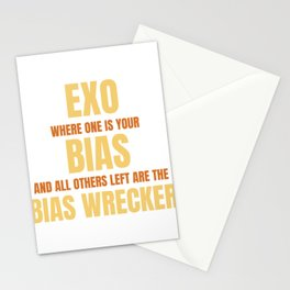 Famous & Fabulous Bias Tshirt Design Exo where one is your bias Stationery Cards
