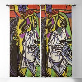 THE WEEPING WOMAN - PICASSO Blackout Curtain