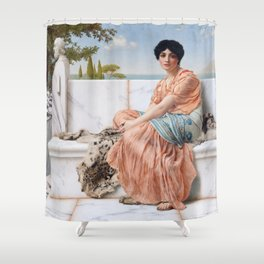 In the Days of Sappho Shower Curtain