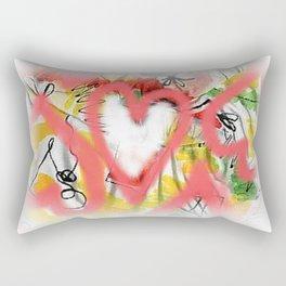 Pink hearts Rectangular Pillow