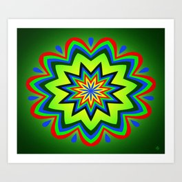 Symmetric composition 33 Art Print