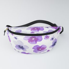 Modern purple lavender watercolor floral pattern Fanny Pack