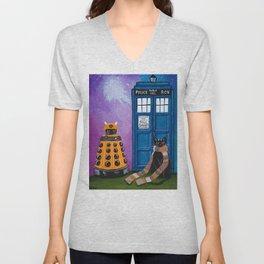 The Doctor and the Dalek Unisex V-Neck