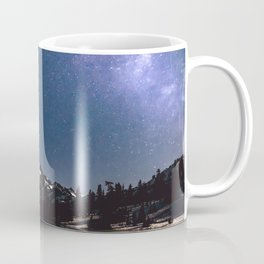 Summer Stars - Galaxy Mountain Reflection - Nature Photography Coffee Mug