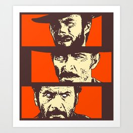 Blondie, Angel Eyes, Tuco Art Print