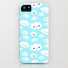 Happy Clouds in the Sky iPhone Case