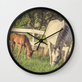 Mare and Foal // Horses Wall Clock