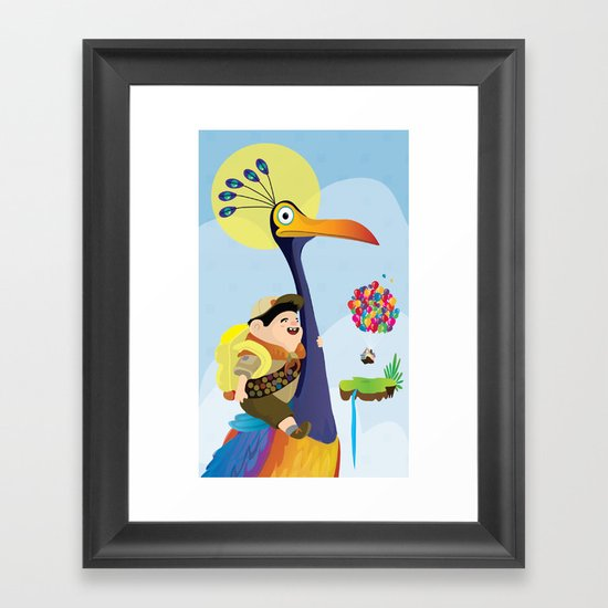 Kevin and russel Framed Art Print