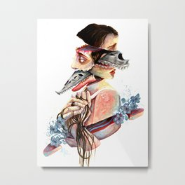 A Monster and Its Pet Metal Print