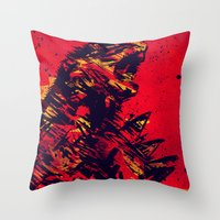 monster Throw Pillows featuring Monster by Balazs Pakozdi