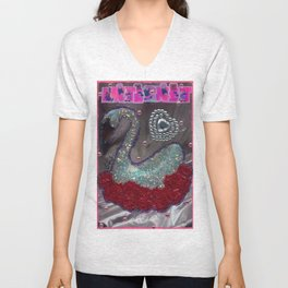 HAKUCHOU IN THE ROSE GARDEN Unisex V-Neck