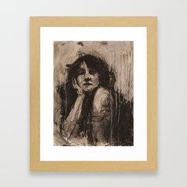 Head Study, Looking Framed Art Print
