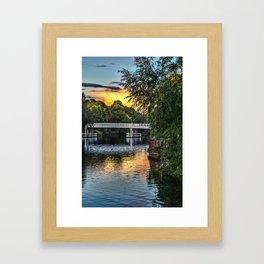 Above The Toll Bridge At Pangbourne Framed Art Print