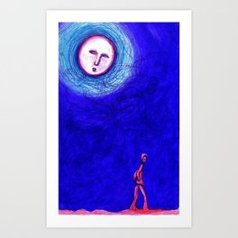 MOON WALKER Art Print