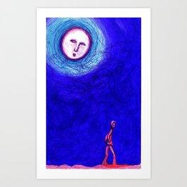 MOON WALKER Art Print