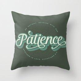 """""""Patience"""" Bible Verse Throw Pillow"""