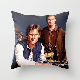 The Captain and The Scoundrel Throw Pillow