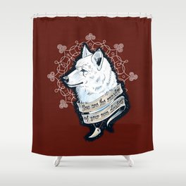 Wolf Protector (Red Edition) Shower Curtain