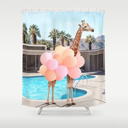 Giraffe Palm Springs Shower Curtain