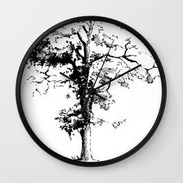 Black poplar tree Wall Clock