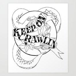 Crawling King Snake Art Print