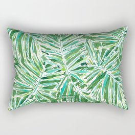 PALMY AND 85 Green Tropical Palm Rectangular Pillow