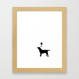 question mark and Labrador Framed Art Print