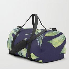 Monstera Pattern Blue #society6 Duffle Bag