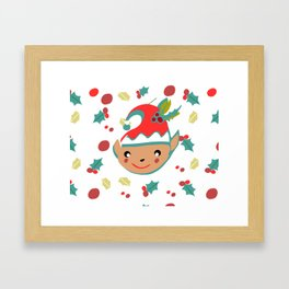 cute gnome Framed Art Print