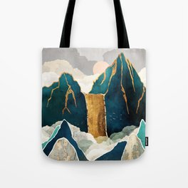 Golden Waterfall Tote Bag