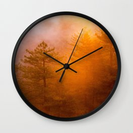 Golden Morning Glory Forest Wall Clock