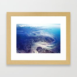 Overlook of Land and Sea Framed Art Print