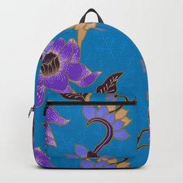 Blue Batik Pattern Backpack