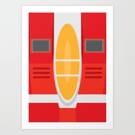 Starscream Transformers Minimalist Art Print