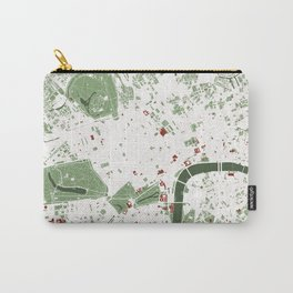 London city map minimal Carry-All Pouch