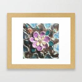 clay flower Framed Art Print