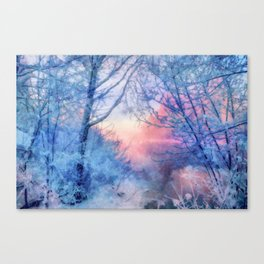 Winter evening Canvas Print