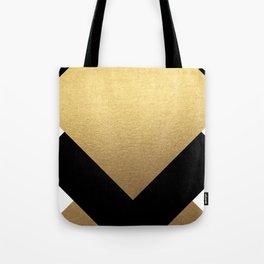 TriBlack & Gold Tote Bag