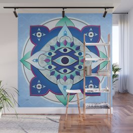 Mandala of the Seven Eyes Wall Mural