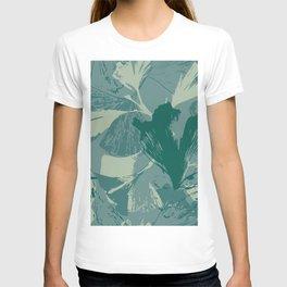 Stamped Gingko Leaves in Sage Green T-shirt