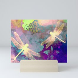 Painting Dragonflies and Orchids A Mini Art Print