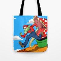 mario Tote Bags featuring Mario? by ShelbyDenham